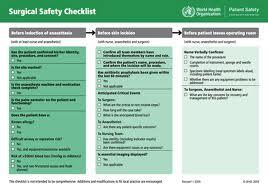 surgery checklist
