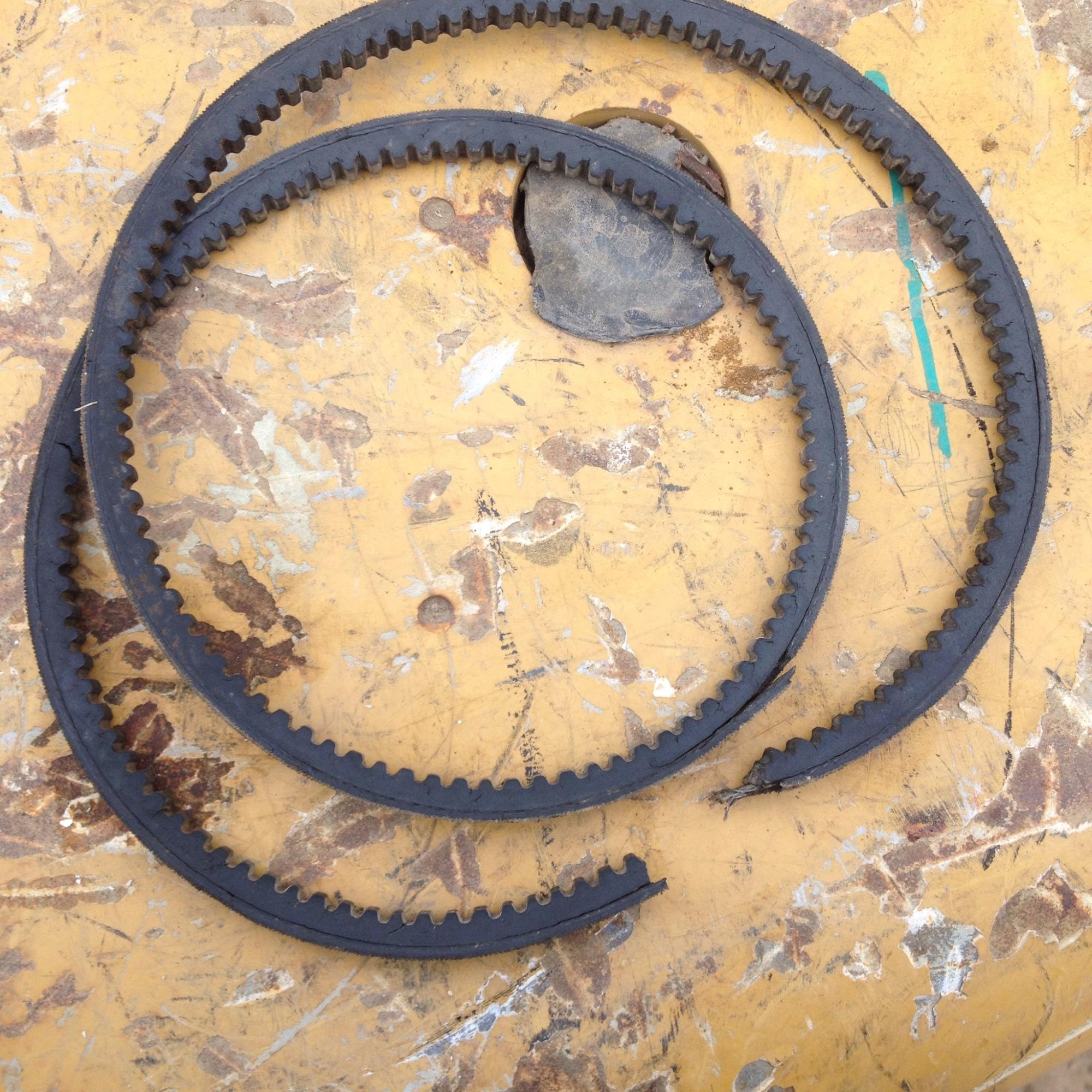 broken forklift belt
